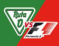 Ruta 1 vs F1 Infografía