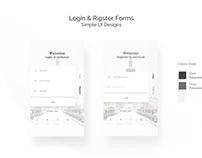 Login Register Forms