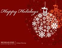 MSU College of Nursing Holiday Greeting Cards