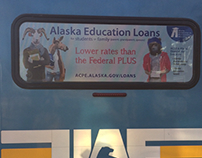 Animal Heads on Students: Bus Ads