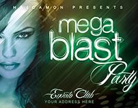 Mega Blast Party Flyer