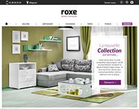 Roxe / UX-UI / Webdesign / mobilier / 2017