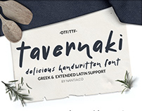 Tavernaki-Delicious Font