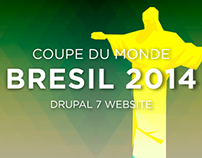 Coupe du Monde Bresil 2014 / Drupal 7 Website