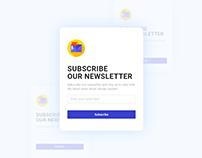 Daily UI 07 - Newsletter UI Design