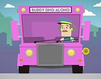 Wheels on the bus - Nursery rhyme animation