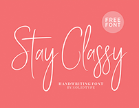 Stay Classy - Free Font