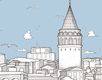 Galata Tower Illustration