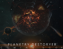 "New poster titled""Planetary destroyer"""