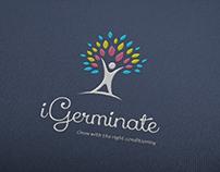 iGerminate logo varieties by StartTall Branding