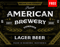 Free American Brewery Font Inspired by Vintage Labels