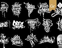 Logotipos en Tag, calligraffiti y Lettering 2014