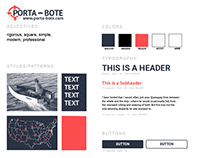 Redesign Porta-Bote UI