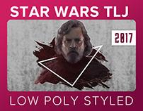 Star Wars The Last Jedi // Low Poly Wallpaper