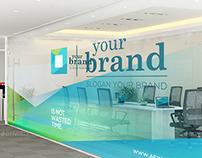 Office Interior Branding Mockups V2