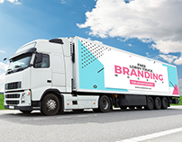 Free Lorry Truck Branding Mockup For Advertisement 2018
