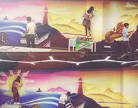 Wall painting in GuangZhou University