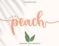 FREE | Summer Peach - Modern Caligraphy