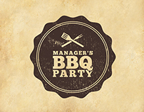 POSTERS | Manager's BBQ Party