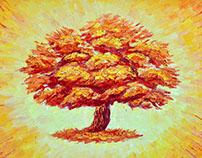 "Painting ""Paradise tree"" Картина ""Райское дерево"""