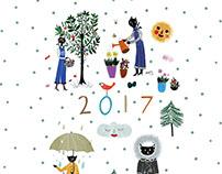 Calendar 2017 personal project
