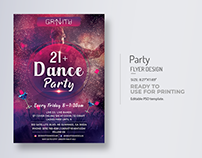 21+ Dance Party Flyer Bundle Title Designs