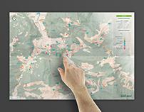 Carte itinéraires Rando