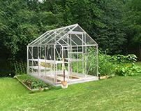 Halls Qube 6x6 Greenhouse | 800 098 8877 | greenhousest