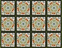 Watercolour pattern digital manipulation