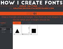 How I create fonts