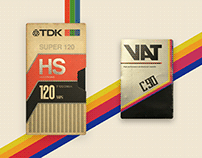 Retro Artworks :: TDK VHS & VAT Cassette
