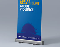 Rotary Won't Stay Silent Pull-up Banner