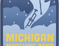 Michigan Marching Band Tshirt Design