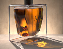 Amber Noir - Cologne Bottle Design