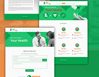 Abdeen Pharmacy UI/UX web design (medical Industry)