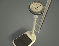 3D Analog Column Scale with Integrated Stadiometer