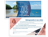 Supports de communication - Campagne Anny Bey