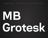 MB Grotesk Typeface