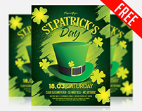 St. Patrick's Day – Free Flyer PSD Template + Facebook