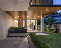 House with screens by ADX Architects