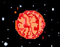 """Pixel-art, animation for arkаnoid """"StarShip"""""""