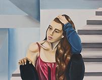Retrato a lo Tamara de Lempicka