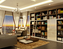 A Home Library at 27th floor