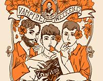 Vampire Weekend Bootleg T-shirt Designs