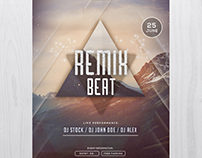 Remix Beat - Free PSD Flyer Template