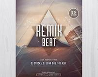 Remix Beat - Free PSD Flyer Template