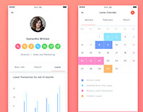 HR Mobile App -Staff Holiday Planner UI/UX Design