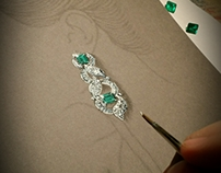 Emerald earring de