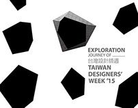 Visual identity of Taiwan designers' week 2015