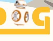 Star Wars Google Doodle